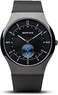 BERING Time 11940-228 Mens Classic Collection Watch with Mesh Band and Scratch Resistant Sapphire Crystal. Designed in Denmark.