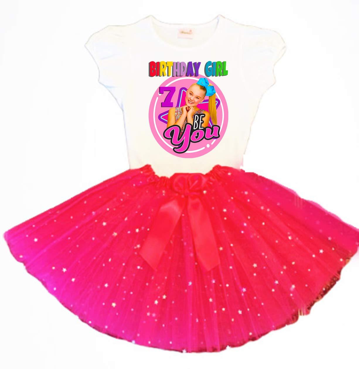 JoJo Birthday Tutu 7th Dealing full price reduction Fuchsia Outfit Dress Party 4 years warranty