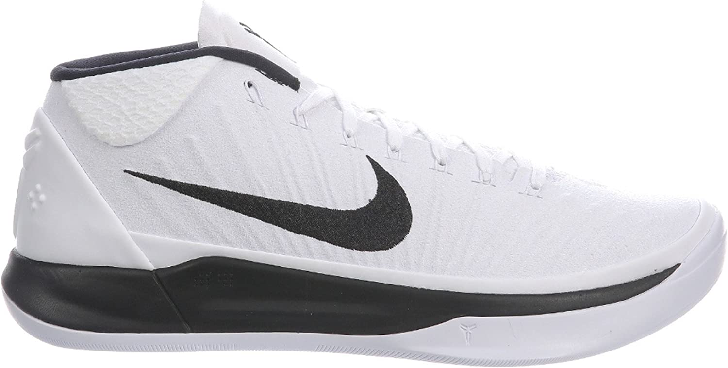 NIKE Mens Kobe A.D. White Black Nylon Basketball shoes 12.5 D(M) US