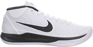 Men's Kobe AD Basketball Shoe (14 M US, White/Black)