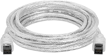 Cmple - 3FT FireWire 800 BETA 9-Pin/9-Pin - IEEE 1394b High Speed Firewire 9 Pin to 9 Pin Cable for MacBook Pro, Computer Laptop PC to JVC Sony Camcorder - 3 Feet Clear