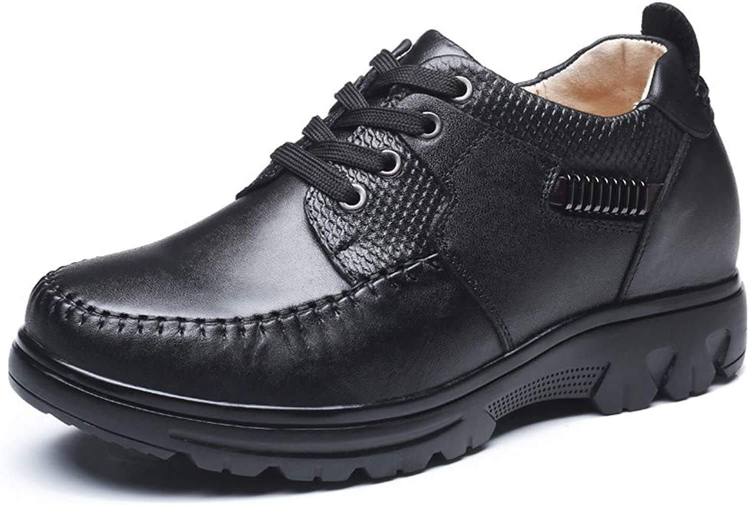 Men's shoes,Spring Fall Leather Lace Up Formal Business shoes,Comfort Driving shoes,Black,37