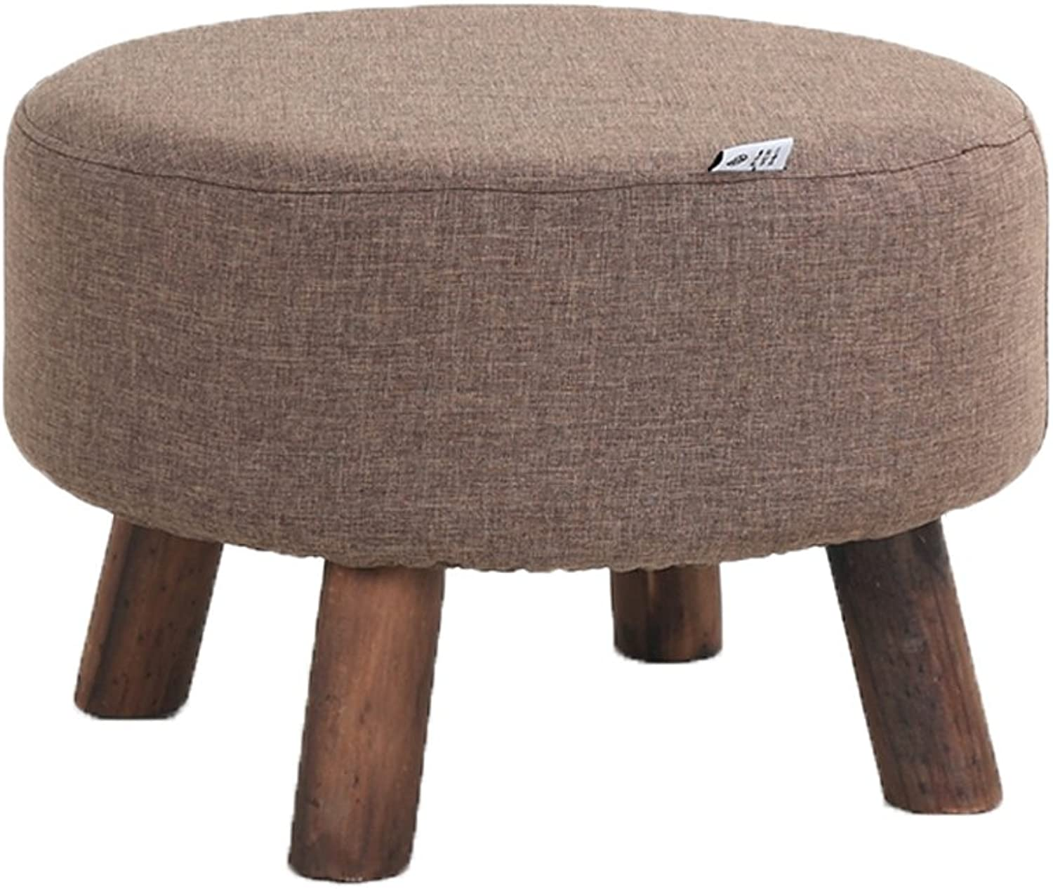 European Chair Solid Wood shoes Bench, Simple Small Stool, shoes, Bench, Cloth, Fabric, Living Room, Footstool, Sofa Stool (color   D)