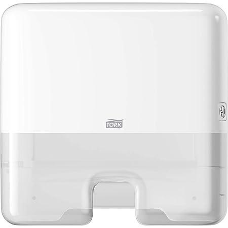 Tork Xpress Mini distributeur pour Essuie-mains interfoliés - 552100 - Elevation Design - Petit Distributeur H2 pour papier d'essuyage (d'une largeur maximale de 21 cm), feuille à feuille, blanc