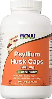 Now Foods, buccia di Psyllium, 500 mg, 500 capsule vegetariane