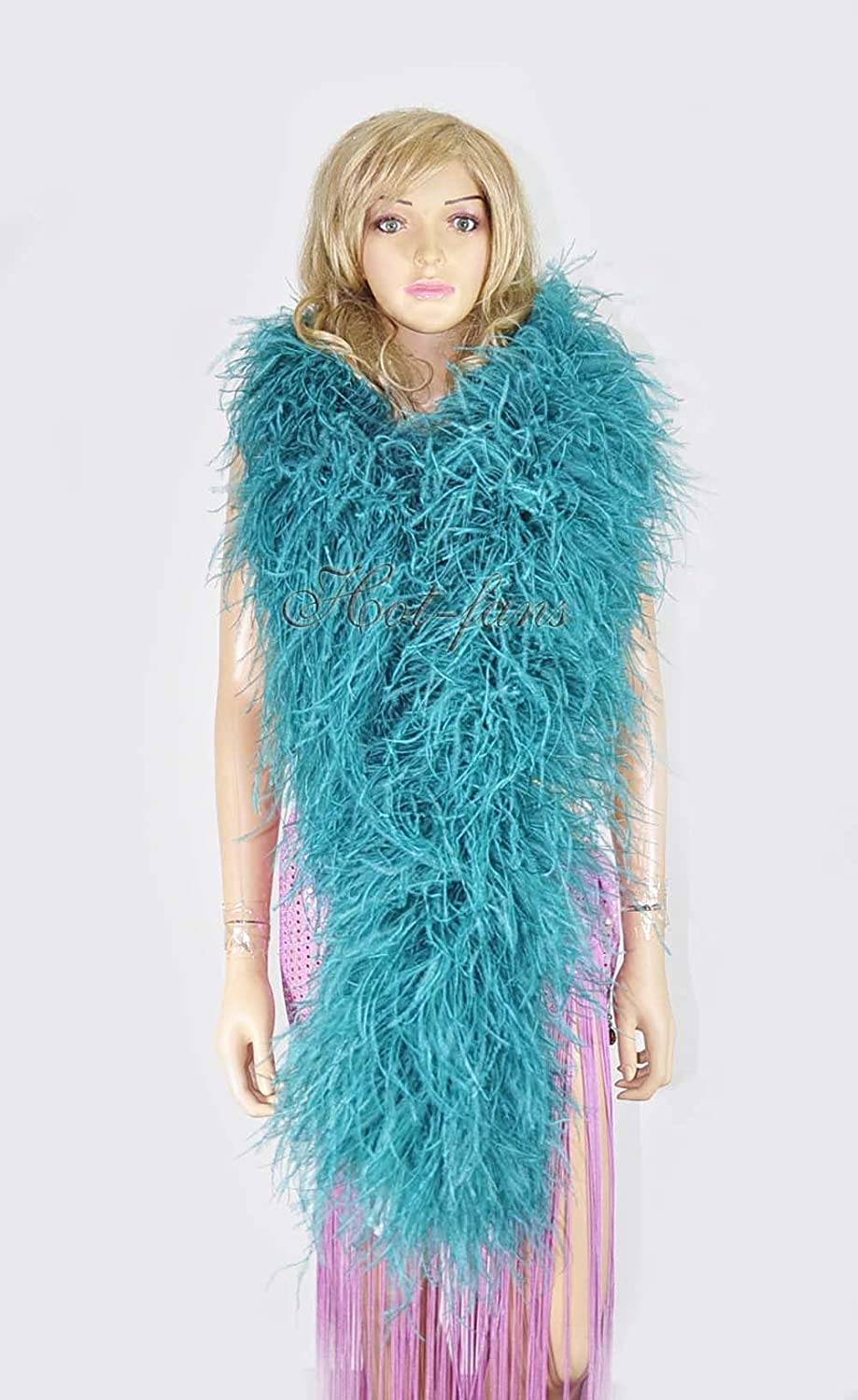 20 ply teal Luxury Ostrich Boa 180 A surprise price is realized 71