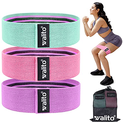 Walito Resistance Bands for Legs and Butt - Exercise Bands Set Booty Hip Bands Wide Workout Bands Sports Fitness Bands Resistance Loops Band Anti Slip Elastic