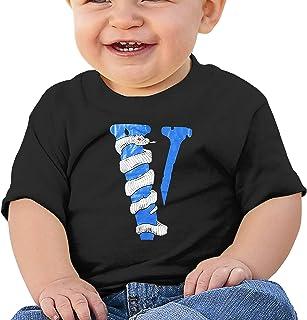 BINGPAUL V-Lone Baby Cotton Short Sleeve T-Shirt Black Toddler Baby Fashion Shirt