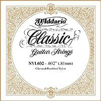 D'Addario ダダリオ NYL032 Rectified Nylon クラシックギター シングルストリング .032 アコースティックギター アコギ ギター (並行輸入)