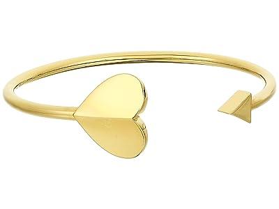 Kate Spade New York Heritage Spade Metal Spade Flex Cuff (Gold) Bracelet