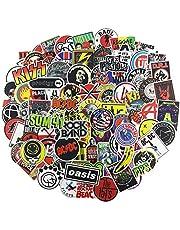 NEULEBEN Pegatinas de Banda 100 Piezas,Pegatinas de Música Rock and Roll de Vinilo para Personalizar Laptop Órgano Electrónico, Guitarra, Piano, Casco, Patineta, Calcomanías de Graffiti de Equipaje