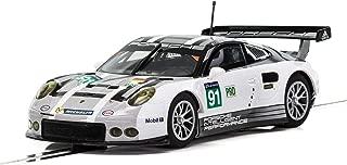 Scalextric C3944 Porsche 911 RSR Le Mans 24 Hrs 2016 1:31 Slot Race Car, White/Gray/Black