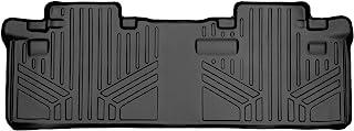 SMARTLINER Custom Fit Floor Mats 2nd Row Liner Black for 2011-2020 Toyota Sienna 8 Passenger Model
