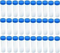 لوله آزمایش Eowpower 30pcs 50ml پلاستیک Vial Storage Container Container برای آزمایشگاه