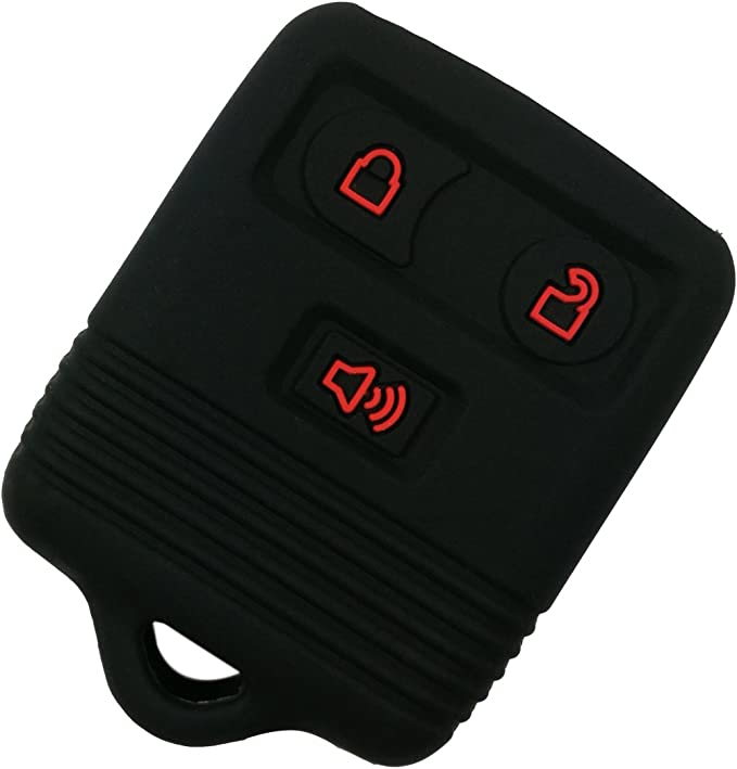 beler Black 3 Buttons Silicone Key Fob Cover Case Car Electronics ...