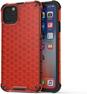 AMZER Hybrid Case for iPhone 11 Pro Max Honeycomb SlimGrip X Protection Case for iPhone 11 Pro Max (6.5 Inch) (Red)
