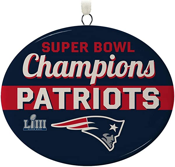 Hallmark New England Patriots Super Bowl LIII Commemorative Ornament City State Sports Activities