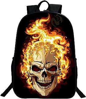 Zaino Borse, Gim Fashion Scuola Viaggio Campeggio Casual Daypacks Cool Skull Stampa Scuola Zaino Zaino