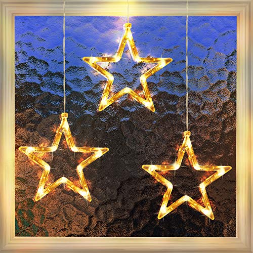 3 Pack Christmas Indoor Window Light Decoration, Backdrop String Lights for Outdoor Indoor Home Bedroom Wedding Party Holiday Wall, Warm White