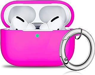 AirPods Pro Hülle, Front LED Sichtbar Vollschutz Silikon Skin Cover für 2019 Apple Neueste AirPods Pro Case   Rose Pink