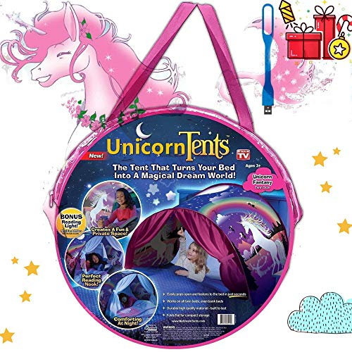 Bed Tents,Pop Up Tents,Children's Tents, Game Tents Indoor, Space Tents,Magic World Tent, Christmas Birthday Gifts for Boys and Girls (Unicorn)
