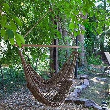 Alomejor Hammock Hanging Mesh Strong Thick Nylon Rope Hammock Swinging Hammock Seat Travel Hanging Swing Chair