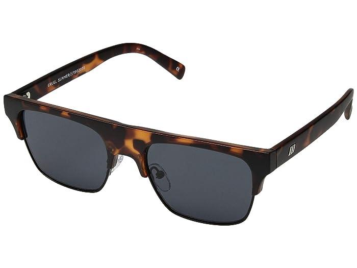 Le Specs Cruel Summer (Tort/Smoke Mono) Fashion Sunglasses