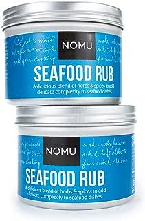 NOMU Seafood Seasoning Rub (3.88 oz | 2-pack) | MSG & Gluten Free, Non-GMO, Non-Irradiated
