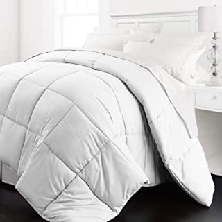 Beckham Hotel Collection - Lightweight All Season - Luxury Goose Down Alternative Comforter - Hotel Quality Comforter and Hypoallergenic  -King/Cali King - White