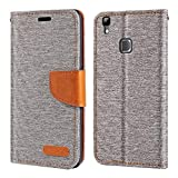 Doogee X5 MAX Case, Oxford Leather Wallet Case with Soft