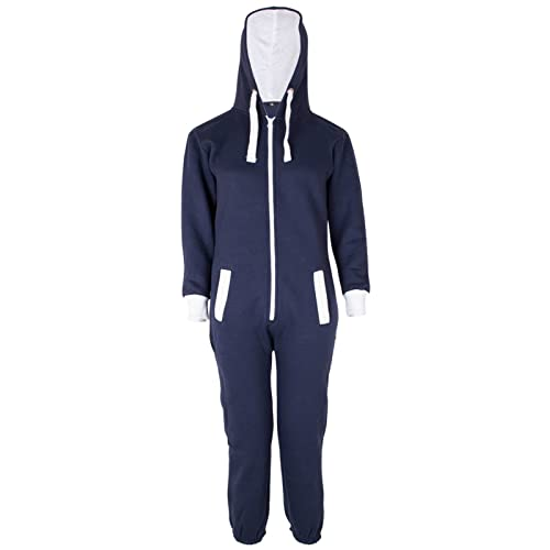 722d3a3160 Malaika ® Childrens Unisex Kids Girls Boys Plain Colour Fleece Hooded All  in One Onesie Jumpsuit