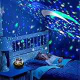 Proyector nocturno giratorio, Diamond Cosmos y Star Proyector USB y soporte de batería con 3 modos y patrones cambiables para fiesta mágica y dormitorio de niños (estilo universo)