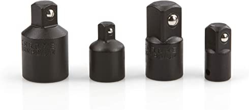 TEKTON 4957 Impact Adapter and Reducer Set, Cr-V, 4-Piece , Black