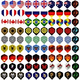 4. Centaur 30 Sets 90 Pcs Standard Dart Flights Durable PET and Extra 6 Pcs Flights Protectors, Wholesale National Flag Cool Styles, Perfect Equipment Supplies for Soft/Steel Tip Dart Games