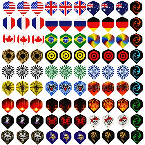 Centaur 30 Sets 90 Pcs Standard Dart Flights Durable PET and Extra...