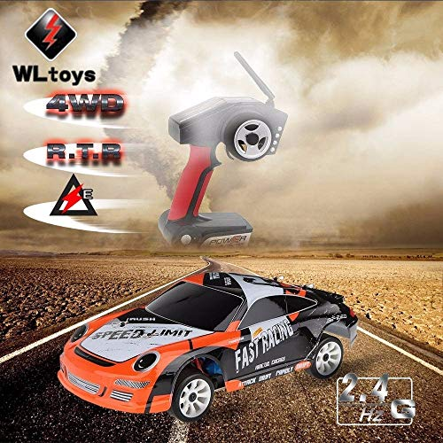 RC Auto kaufen Drift Car Bild 3: ZMH Hochgeschwindigkeits Auto 35Km H Fernbedienung 1 24 2,4 G Elektrisch Geb rsteter Motor RC Drift Car 4WD RTR RC Auto Geschenke Kinder Kids Boy*