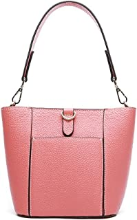 Runhuayou New Fashion Simple and Various Constrict Bills Shoulder Slung Leather Handbags Great for Casual or Many Other Occasions Such (Color : Pink)