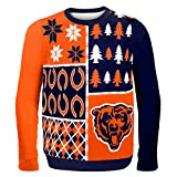 NFL Chicago Bears BUSY BLOCK Ugly Sweater, XX-Large
