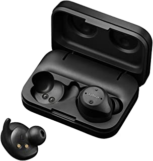 Jabra Elite Sport 4.5h True Wireless Earbuds Workout Training Noise Cancellation Bluetooth in-Ear Headphones with Earphones Charging Case & Up to 13.5 Hours Battery, Black