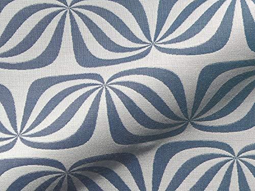 Möbelstoff PARIS 990 Muster Abstrakt Farbe blau als robuster Bezugsstoff, Polsterstoff blau gemustert zum Nähen und Beziehen, Polyacryl, Teflon Fleckschutz, beidseitig verwendbar