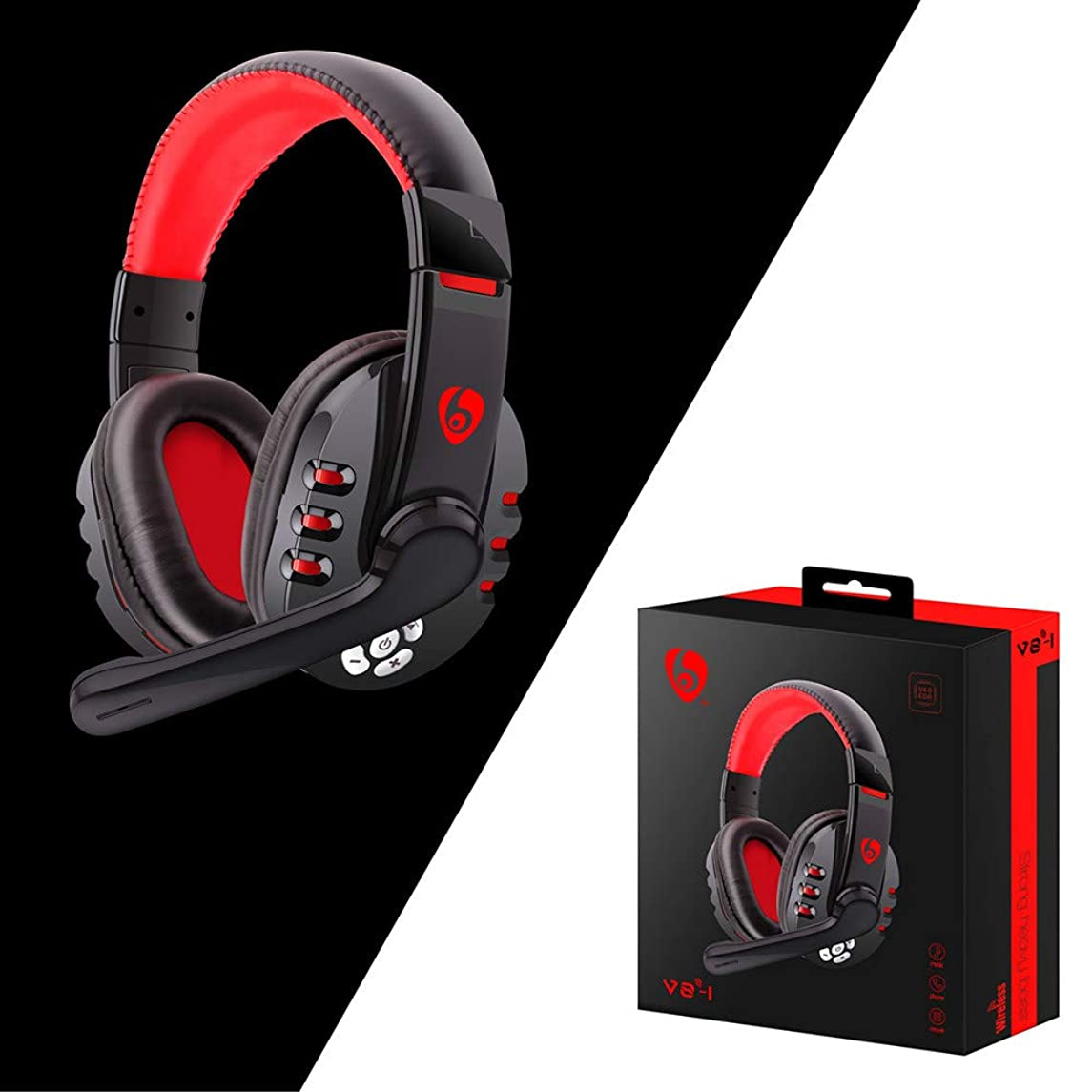 Elevin(TM) Bluetooth Gaming Headset Headphones with Microphone for PS4/PC/Phone for PUBG