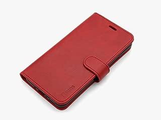 HTC U11 Case, HTC Ocean Case,Tisuns HTC U11 Case, HTC Ocean Leather Case, Flip Folio Book Case, Money Pouch Wallet Cover with Kick Stand for HTC U11 / Ocean Rose Red