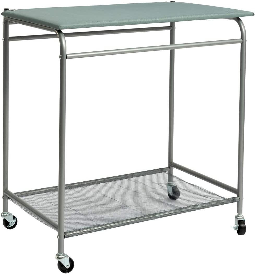 HollyHOME Laundry Sorter Cart with Foldable Ironing Board with Removable 3 Bags Laundry Hamper Sorter Grey