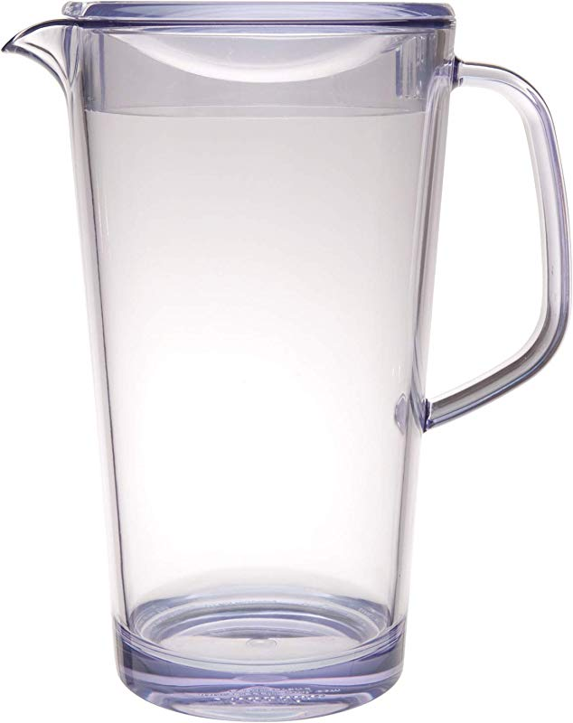 Service Ideas 10 00403 000 Cold Beverage Pitcher With Lid 1 9 L Clear