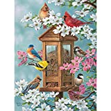 Bits and Pieces - 1000 Piece Jigsaw Puzzle for Adults 20' x 27' - Joys of Spring - 1000 pc Bird Feeder Flower House Jigsaw by Artist Abraham Hunter…