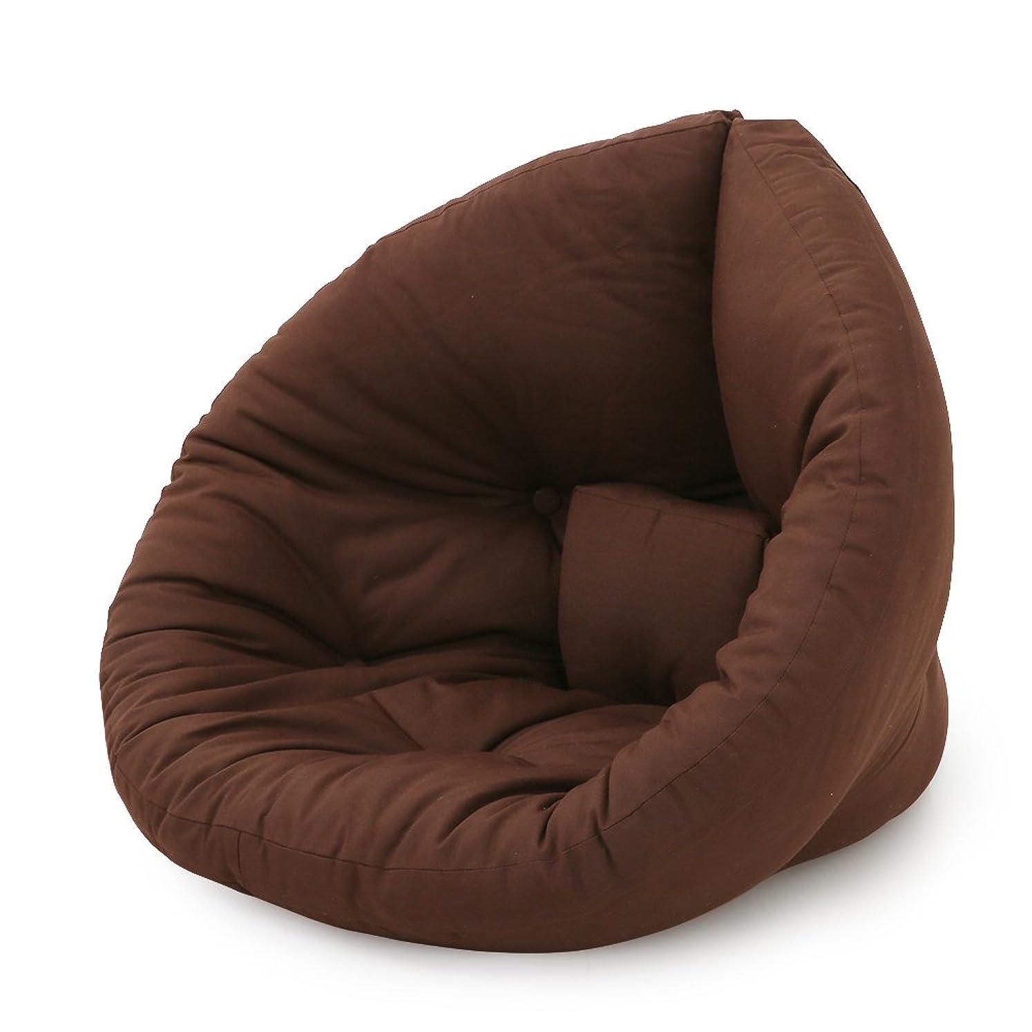貸す強調する好きLOWYA 北欧デザイン 座椅子 2way 広げてマットレスにも 1人掛け ソファ デザイナーズ ファブリック ミニサイズ ブラウン
