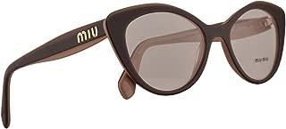 Eyeglasses Miu MU 1 RV U451O1 CAMMEO TOP TRANSP BROWN
