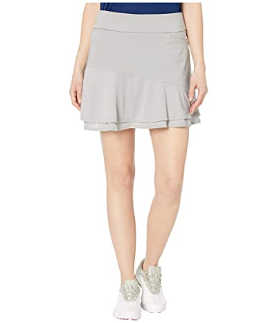 adidas Golf Ultimate365 Knit Frill Skort (Medium Solid Grey) Women