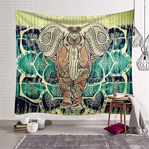 Tapiz Nueva Arte Mandala Colgar Pared Tapices Mandala de elefante coloridoétnico decoración Pared Manta ligero poliéster para Manta Picnic alfombrilla yoga toalla playa mantel -tapestry,150x100cm