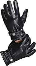 CHULRITA Mens Winter Genuine Leather Lined Dress Driving Gloves